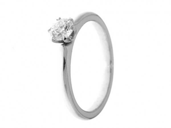 Solitär Ring Weißgold 1 Brillant 0,40 ct