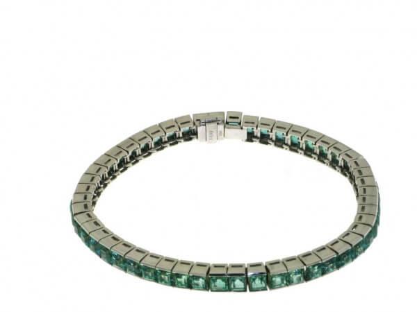 Armband aus Weißgold mit Smaragden