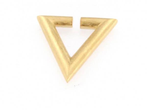 Creole Dreieck Silber eismatt goldplatt.