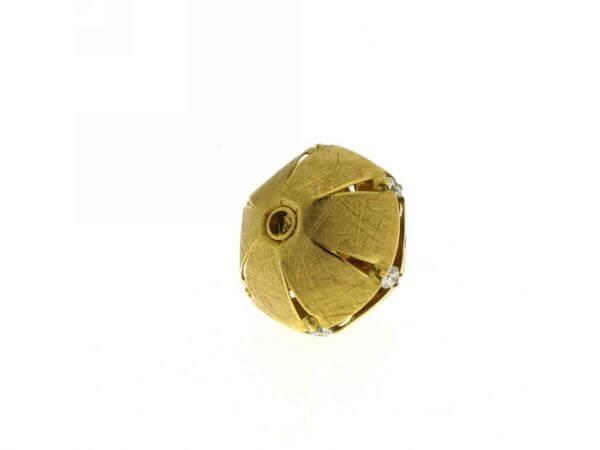 Patentschließe Gelbgold mit Brillanten