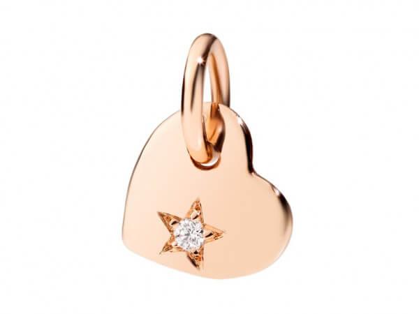 Dodo Cuore 9 kt Roségold mit Diamant
