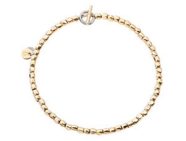 Dodo Armband mini Granelli aus Gelbgold