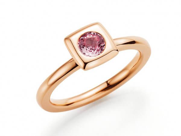 """Ring """" Mila"""" klein Roségold pink Safir"""