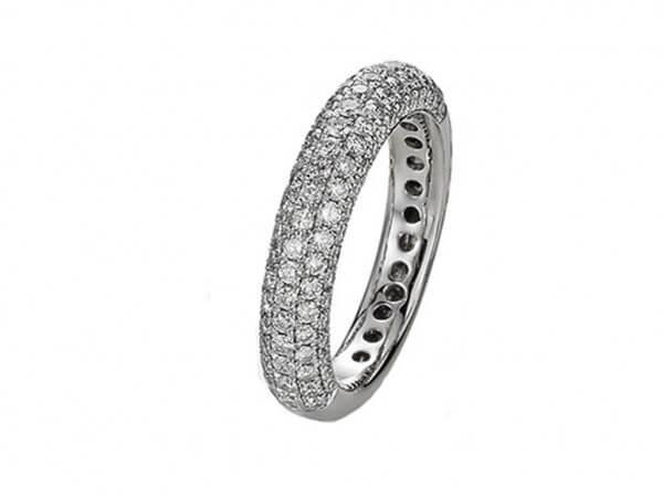 Ring Allure aus Weißgold 3,21 mm breit