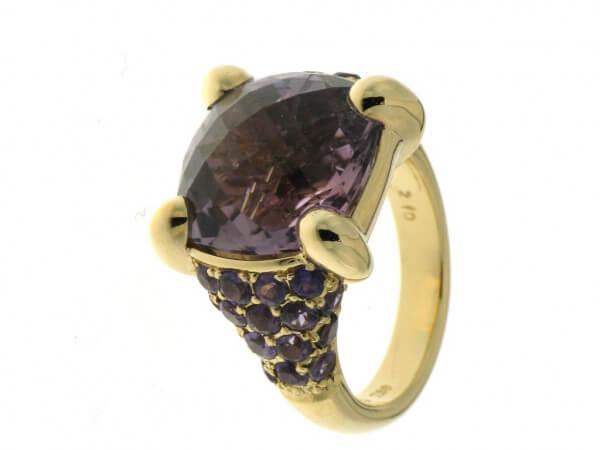 Ring aus Roségold mit Amethysten