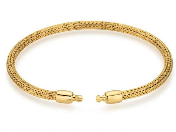 Flexarmband aus Gelbgold 17cm lang