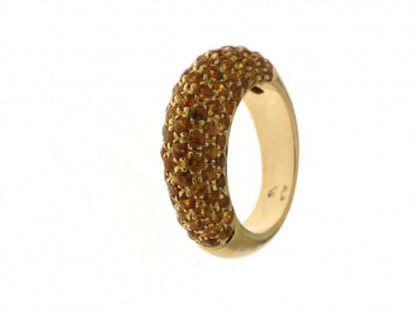Ring Gelbgold mit Mandarin Granat