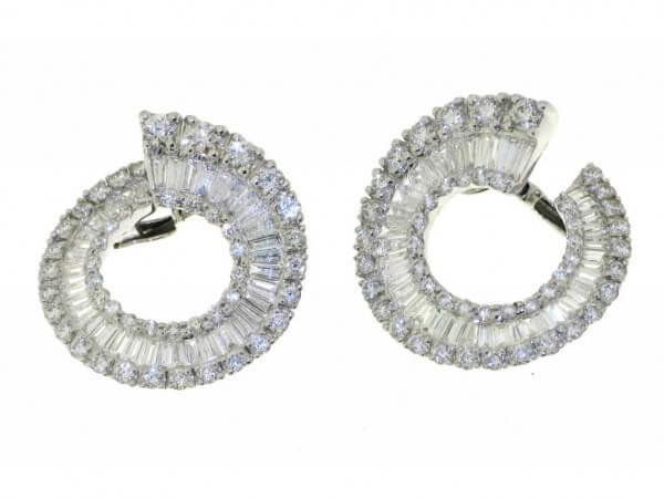 Ohrringe Weißgold mit Diamanten