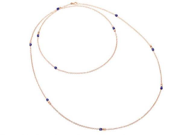 Lange Sautoir-Halskette Mini-Granelli