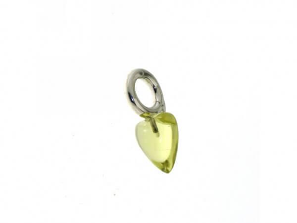 Charmsanhänger Weißgold mit Lemon Quarz