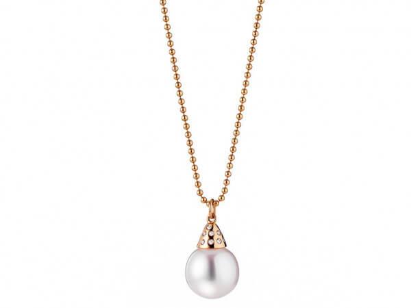 Kette Roségold Südsee Perle 10-11 mm