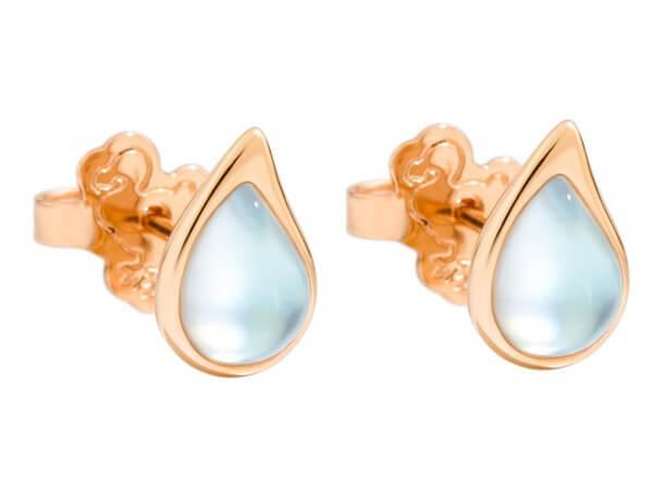 Dodo Ohrringe Drop mit Perlmutt (1 Paar)