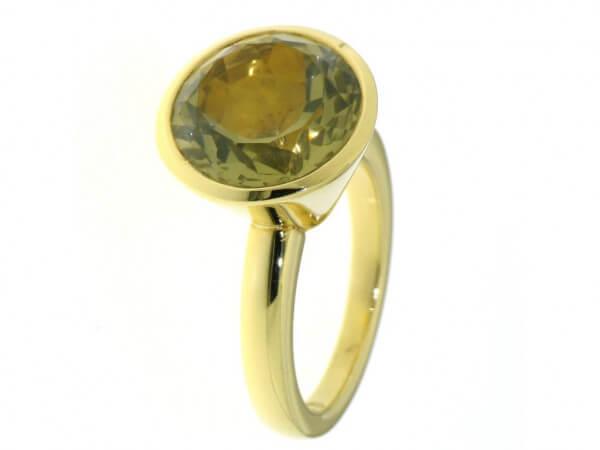 Ring 750 Gelbgold mit Lemon Citrin
