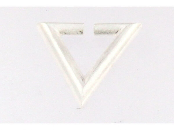 Creole Dreieck Silber eismmatt