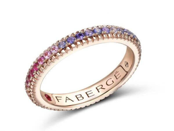 Fabergé rainbow Ring bunte Edelsteine