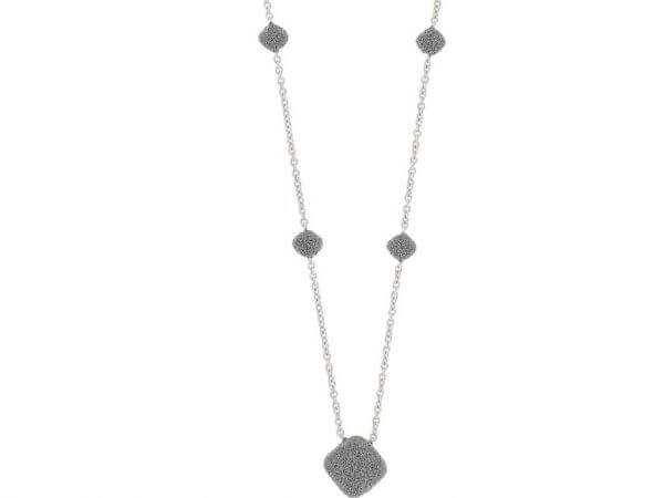 Pesavento Collier grauer Diamantstaub