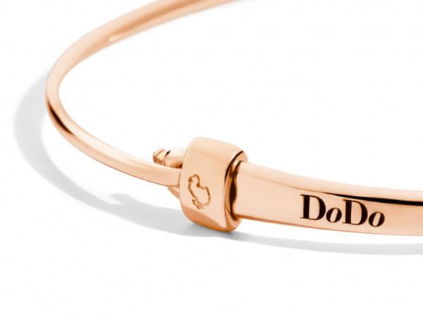 Dodo Armreifen Verschluss aus Roségold