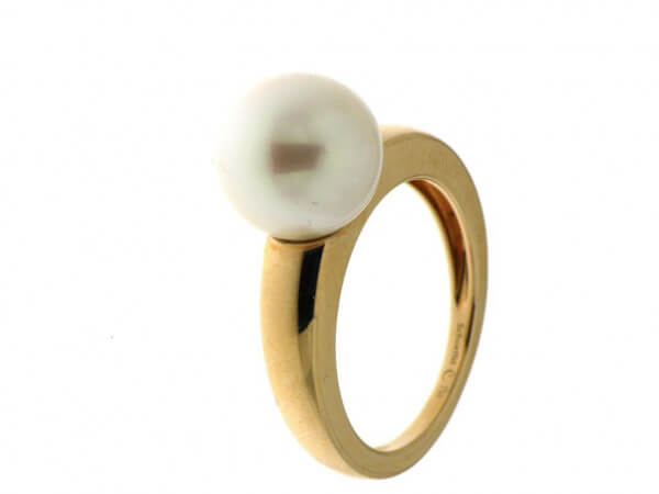 Ring Roségold mit Südsee Perle 10-11 mm
