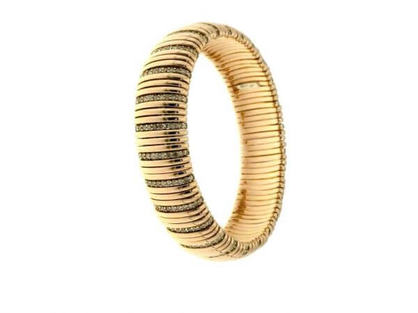 Armband Roségold flexibel,Brillanten bra
