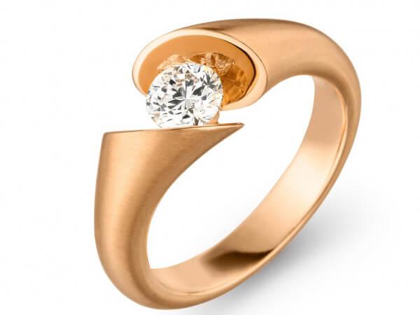 Solitär Ring Calla aus Roségold 0,50 ct