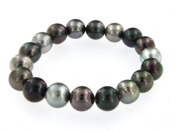 Stretch Armband mit Tahiti Perle 10-11mm
