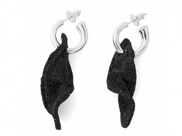Pesavento Ohrring Silber polvere schwarz