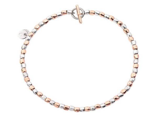 Dodo mini Körnchen Armband Silber-Gold