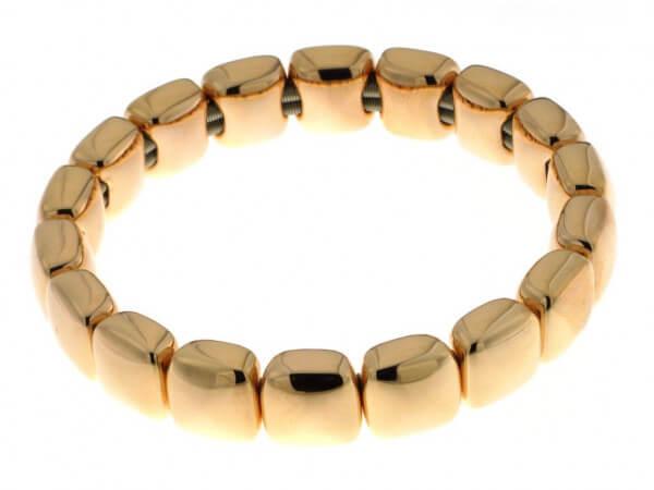 Armband aus Silber poliert goldplattiert