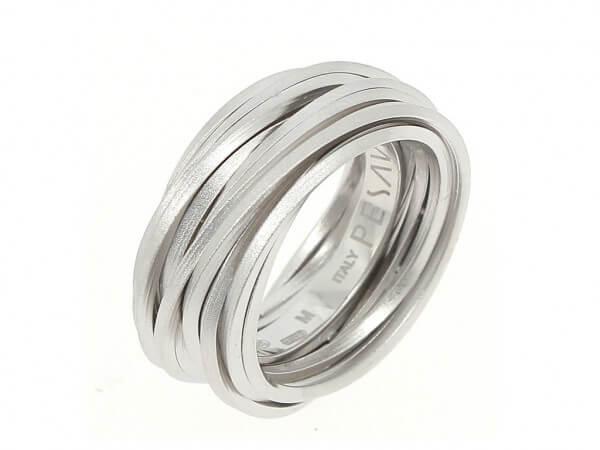 Pesavento GEO Ring Silber sandgestrahlt
