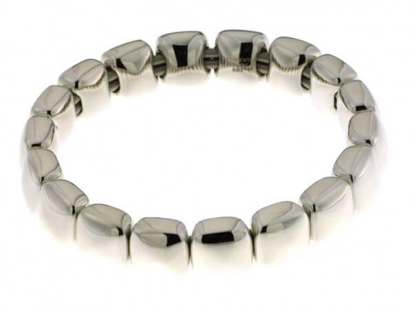 Armband aus Silber poliert