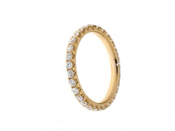 Memoire Ring Roségold 30 Brillanten 1,05