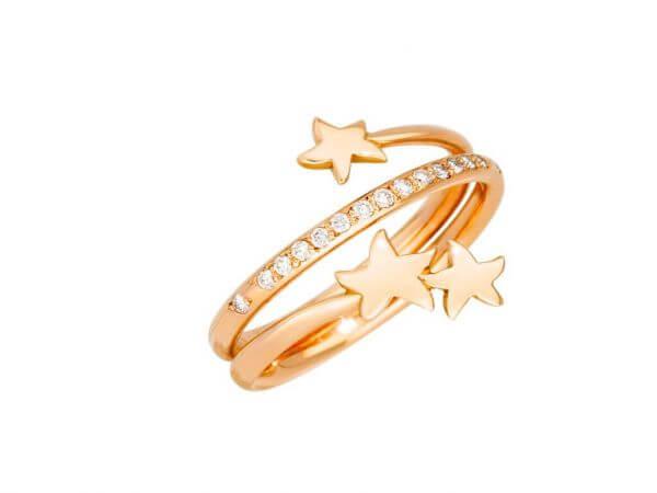 """Dodo Ring """"3 Sterne"""" Roségold,Diamanten"""