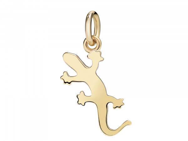 Charms kleiner Gecko aus 18 kt Gelbgold
