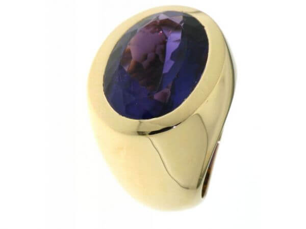 Ring 750 Roségold mit Amethyst oval