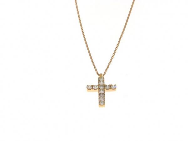 Kette aus Roségold mit Kreuzanhänger