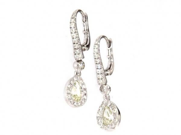 Ohrringe Diamant Tropfen und Brillanten