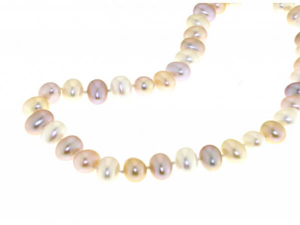 Süßwasser Perlkette multicolor 8-9 mm