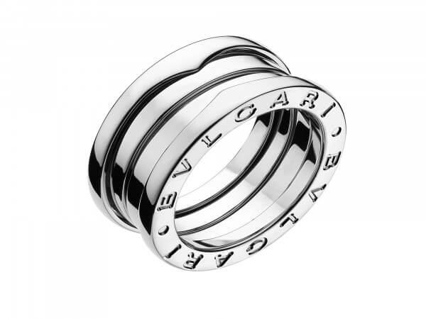 Bulgari Bzero1 Ring 3 Bänder Weißgold