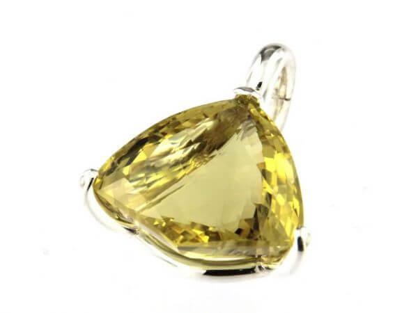 Anhänger Silber mit Lemon Quarz 44,55 kt
