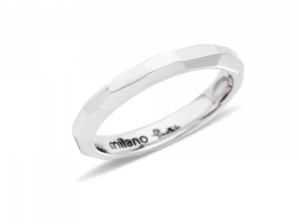 Ring Milano aus rhodiniertem Weißgold