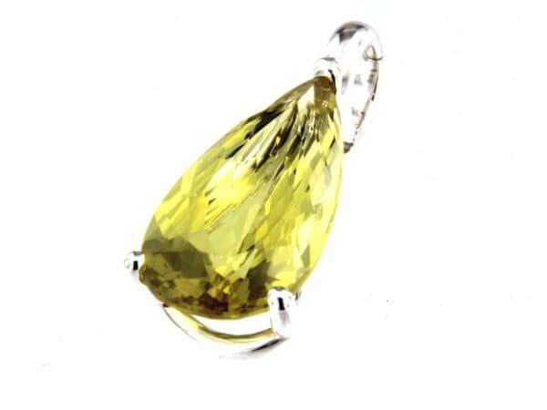 Anhänger Silber mit Lemon Quarz Tropfen
