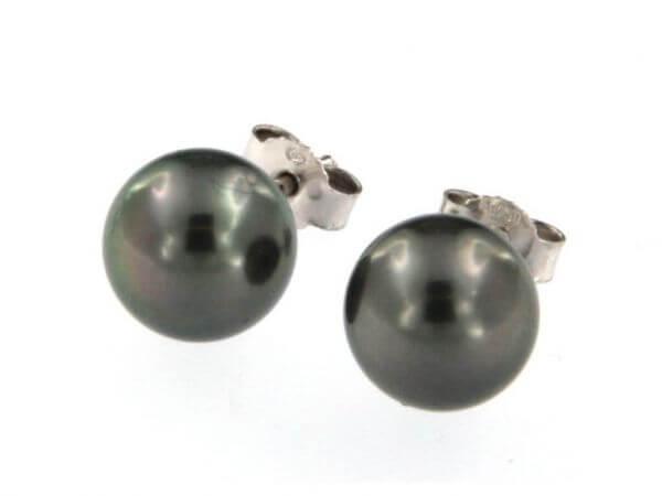 Ohrstecker mit Tahiti Perlen 9-10 mm