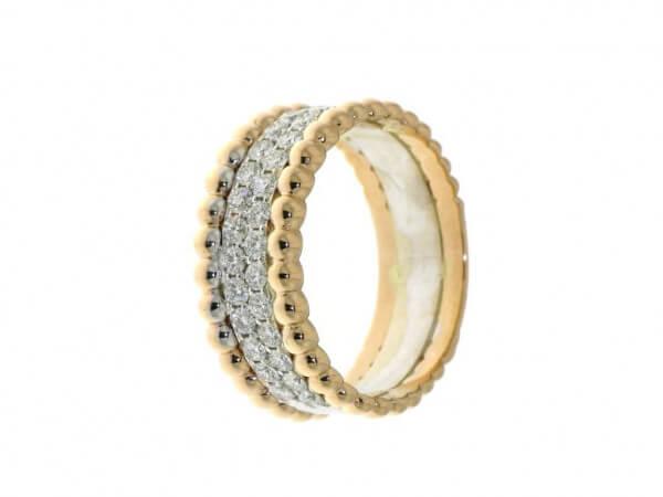 Ring Rosé/Weißgold u. 0,56 ct Brillanten