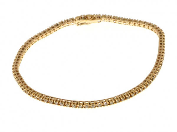 Tennis Armband aus Roségold 1ct Brillant