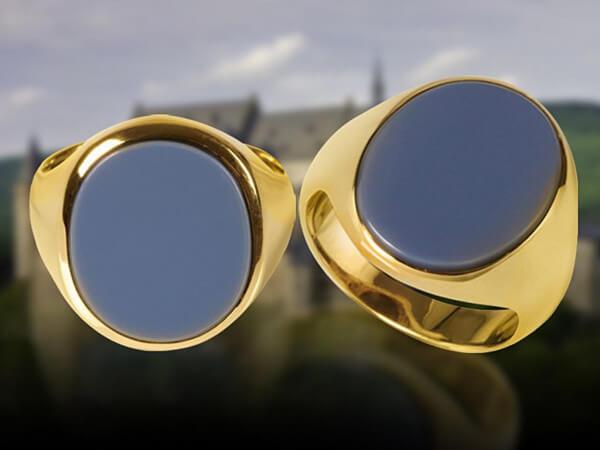 Siegelring Gelbgold Lagenstein 14,5x12mm