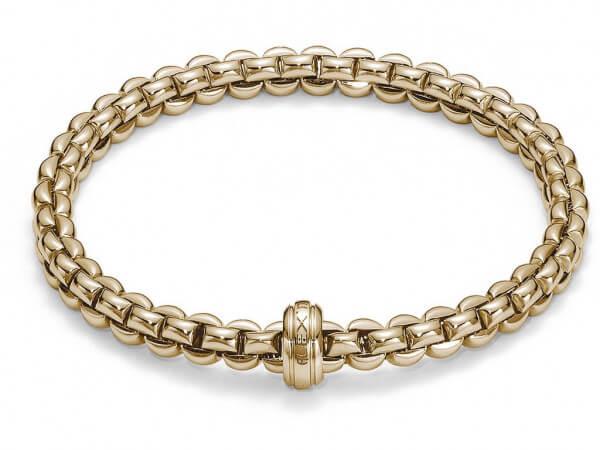 Fope Flexit Eka Armband aus Gelbgold
