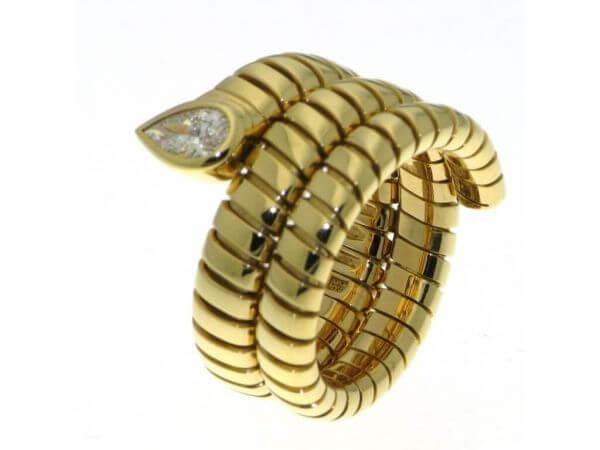 Bulgari Ring Tubogas mit Diamant