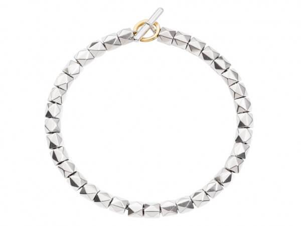 Dodo Armband Stud Silber,Verschluß Gold