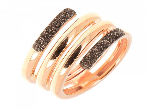 Ring Roségold farben mit Polvere braun