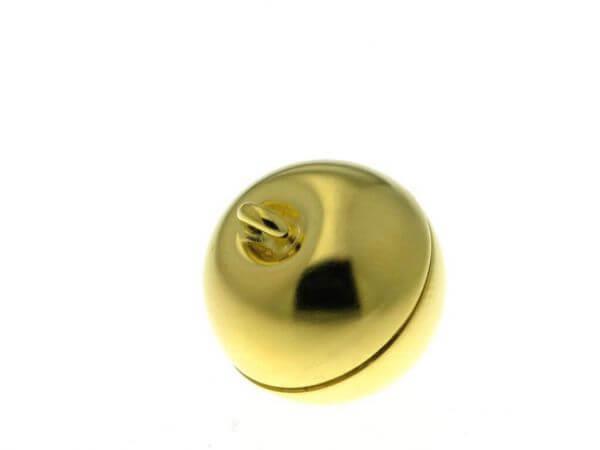 Magnetschließe Silber vergoldet 14 mm